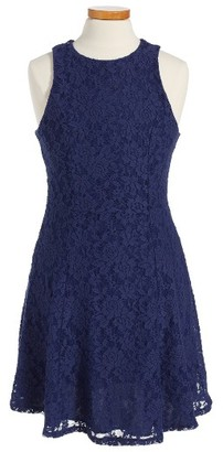 Girl's Ruby & Bloom Lace Dress $49 thestylecure.com