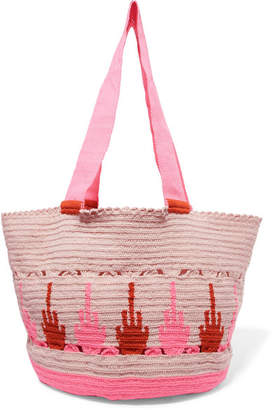 Sophie Anderson Hoya Woven Tote - Pink