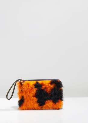 Marni Leather and Lamb Fur Pochette
