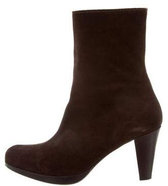 La Canadienne Suede Pointed-Toe Boots