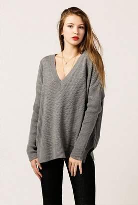 Azalea Long Sleeve V Neck Rib Sweater