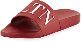 Valentino Men's VLTN Logo-Embossed Pool Slide Sandal