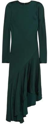 Haider Ackermann Kuiper Asymmetric Satin Midi Dress