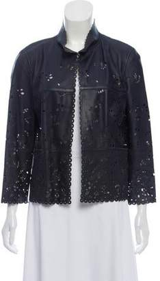 Chanel Leather Lasercut Jacket