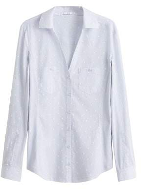 MANGO Embroidered detail shirt