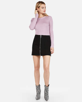 Express Fitted Crew Neck Sweater