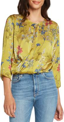 Willow & Clay Print Satin Top