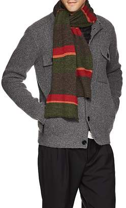Inis Meain Men's Striped Baby Alpaca-Silk Knit Hat