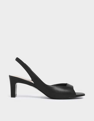 Charles & Keith Open Toe D'Orsay Slingback Heels