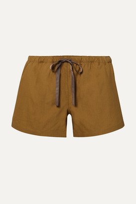 Marios Schwab On The Island By Senneh Cotton-poplin Shorts - Sand
