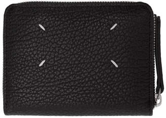 Maison Margiela Black Leather Zip Wallet