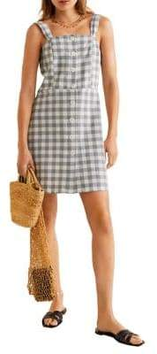 MANGO Gingham Button-Front Dress