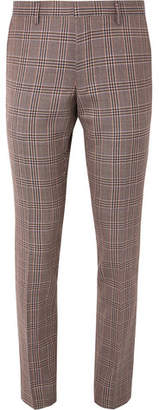 Dries Van Noten Slim-Fit Checked Wool Trousers