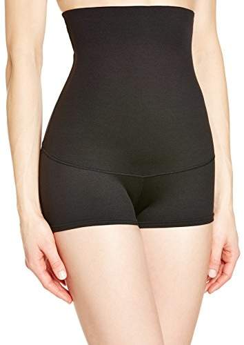 Flexees Maidenform Women's Shapewear Minimizing Hi-Waist Boyshort , White, Medium