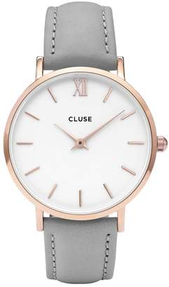 Cluse Minuit Rose Gold Tone Watch