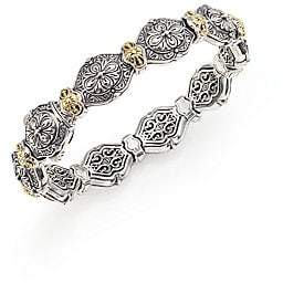 Konstantino Women's Thalassa 18K Yellow Gold& Sterling Silver Etched Link Bangle Bracelet