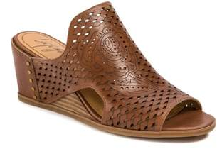 LATIGO Janis Laser Cut Wedge Sandal