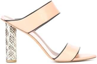 Diane von Furstenberg snake embossed heel sandals