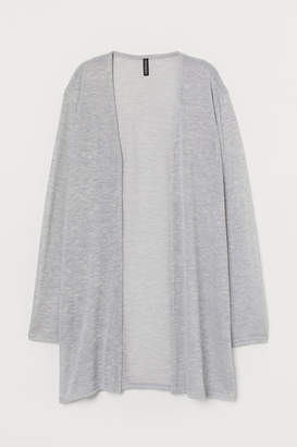 H&M H&M+ Loose-knit Cardigan - Gray