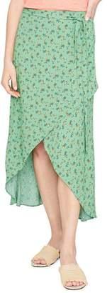 Sanctuary Jamie Floral Faux-Wrap Midi Skirt