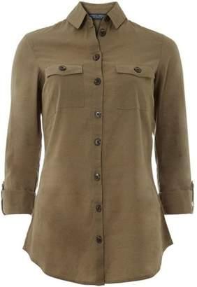Dorothy Perkins Womens **Tall Khaki Linen Shirt