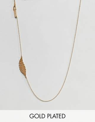 Whistles Leaf Long Necklace