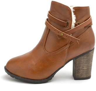 Bamboo Fur-Lined Belted Booties $37 thestylecure.com