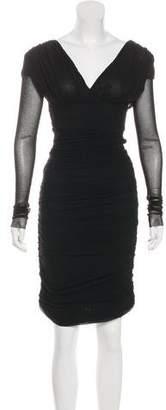 Fuzzi Ruched Bodycon Dress