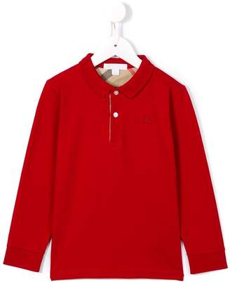 Burberry long-sleeve Cotton Jersey Polo Shirt