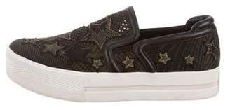 Ash Knit Platform Sneakers