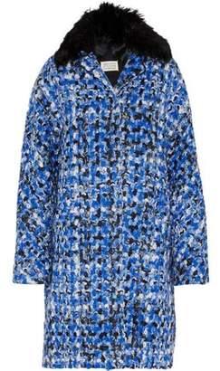 Maison Margiela Oversized Alpaca-Trimmed Wool-Tweed Coat