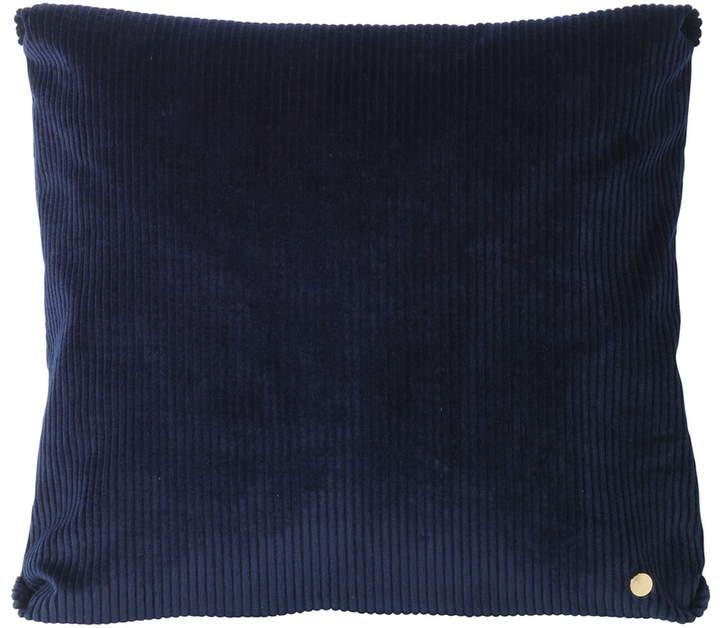 ferm living - Corduroy Kissen, 45 x 45 cm, Navyblau