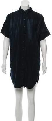 Current/Elliott Knee-Length Button-Up Dress