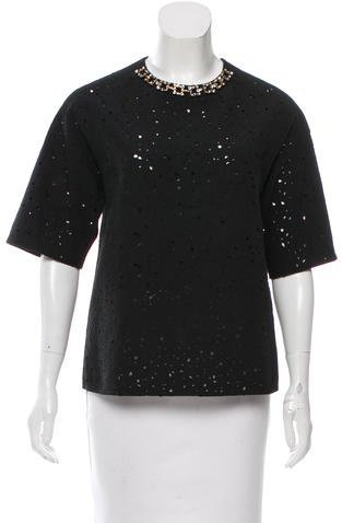 3.1 Phillip Lim 3.1 Phillip Lim Embellished Laser Cut Top w/ Tags