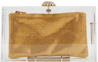 Charlotte Olympia Gold Plastic Clutch Bag