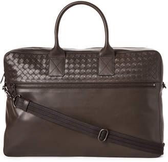 Bottega Veneta Espresso Intrecciato Leather Briefcase