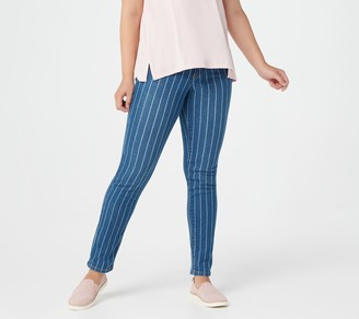 Denim & Co. Studio by Pinstripe Classic Denim Pants