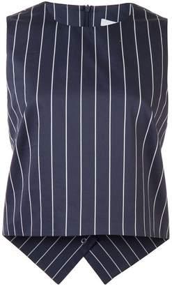 Tibi striped sleeveless top