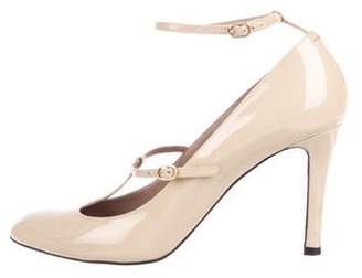 Chloé Patent Leather T-Strap Pumps