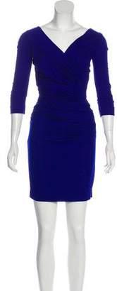 Diane von Furstenberg Bentley Short Three-Quarter Sleeve Dress