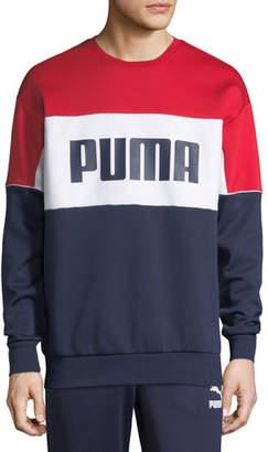 Puma Men's Retro Crewneck Logo Graphic Sweatshirt