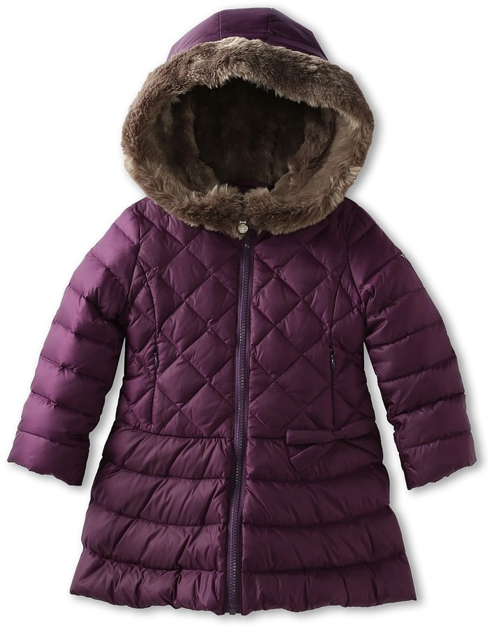 Armani Junior Quilted Skirt Puffer Girl's Coat