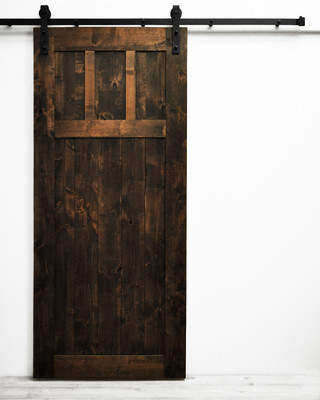 URBAN RESEARCH Dogberry Collections Craftsman Solid Wood Room Dividers Knotty Alder Slab Interior Barn Door