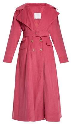 Art School - Euphoria Corduroy Trench Coat - Womens - Pink