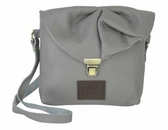 N'damus London Emily Rose Mini Grey Leather Crossbody Bag