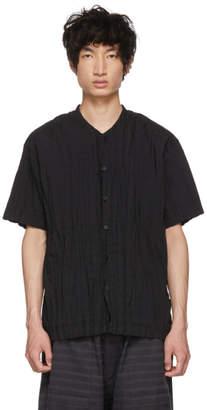 Issey Miyake Black Torus Pleated Shirt