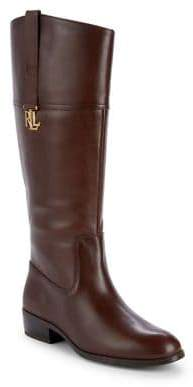 Lauren Ralph Lauren Logo-Trim Leather Riding Boots