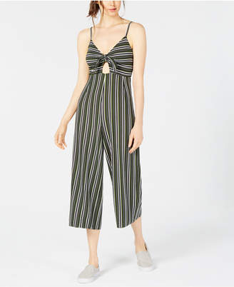 Project 28 Nyc Tie-Front Striped Jumpsuit