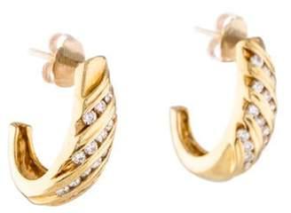 14K Diamond Drop Earrings yellow 14K Diamond Drop Earrings