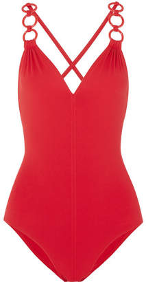 Eres Sirene Embellished Swimsuit - Red